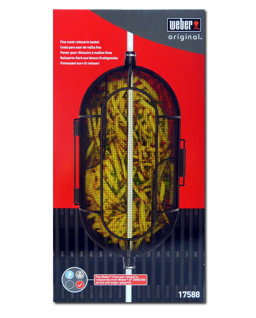 weber 17588 rotisserie korb aus drahtgewebe f r alle weber. Black Bedroom Furniture Sets. Home Design Ideas