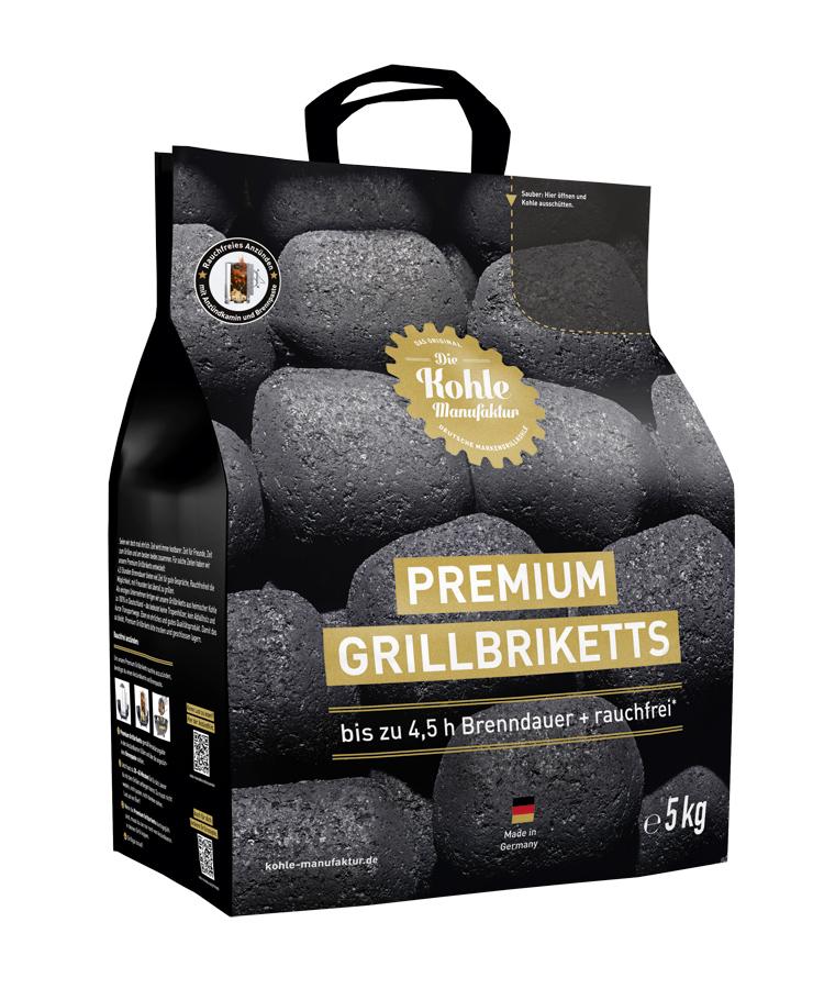 premium grillbriketts inkl premium brennpaste 5kg grillkohle briketts grillzubeh r. Black Bedroom Furniture Sets. Home Design Ideas