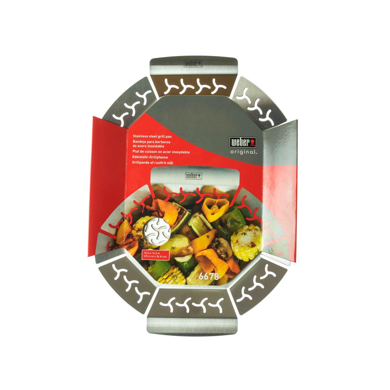 weber 6678 gem sekorb grillpfanne gro edelstahl ebay. Black Bedroom Furniture Sets. Home Design Ideas