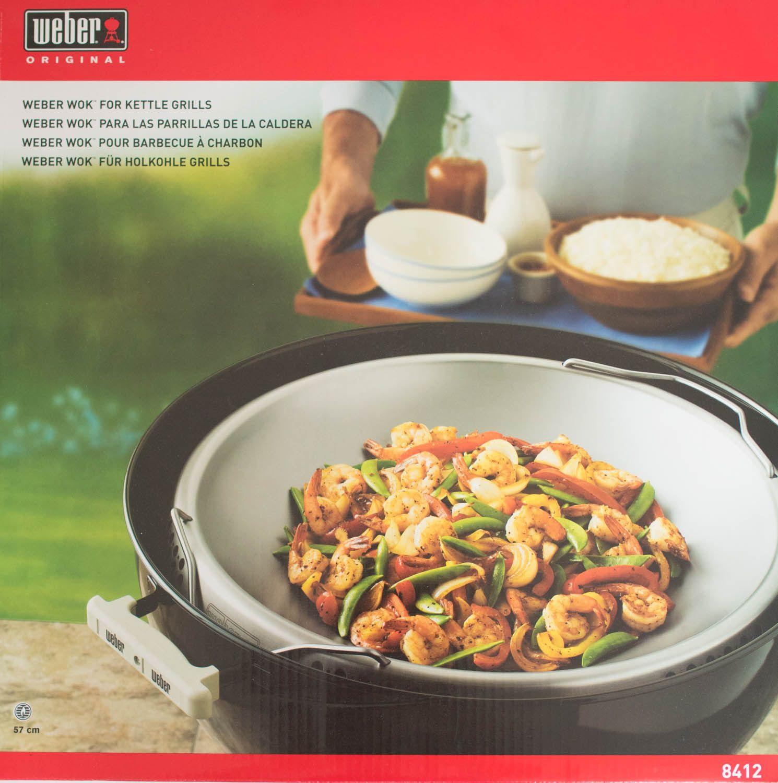 weber 8412 edelstahl wok f r alle 57cm holzkohlegrills ebay. Black Bedroom Furniture Sets. Home Design Ideas