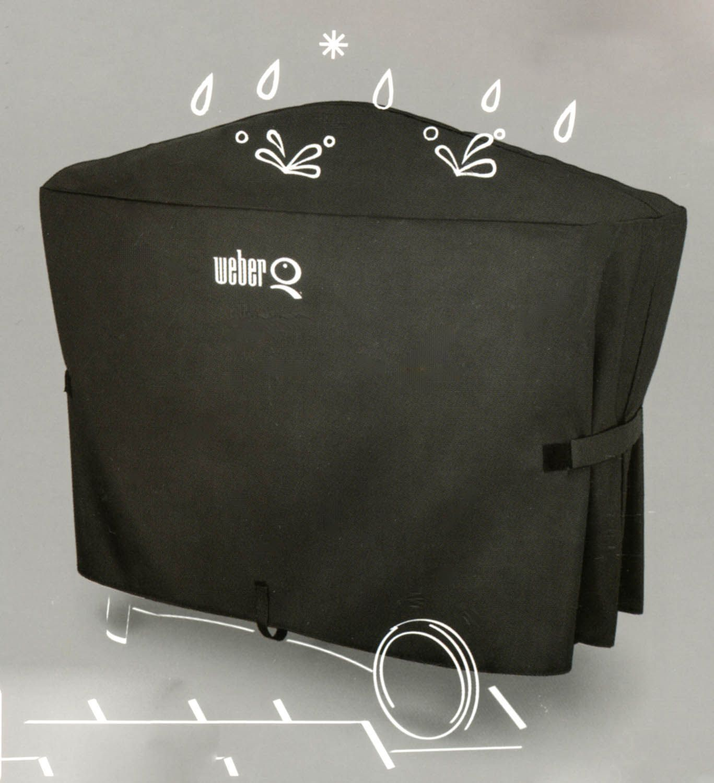 weber 7119 abdeckhaube premium f r q 300 3000 serie q200 2000 mit rollwagen ebay. Black Bedroom Furniture Sets. Home Design Ideas